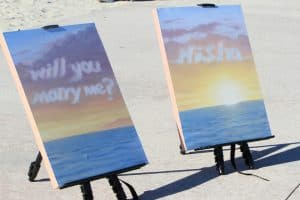 Artistic Marriage Proposal