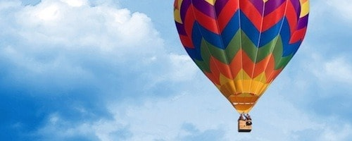 Hot air balloon proposal idea