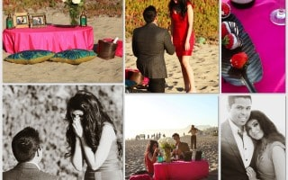 Romantic Beach Picnic Proposal Idea