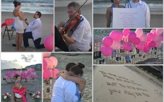 Romantic Beach Marriage Proposal Idea